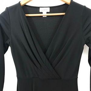 LOFT Dresses - Loft Womens Midi Black Dress, Size 4